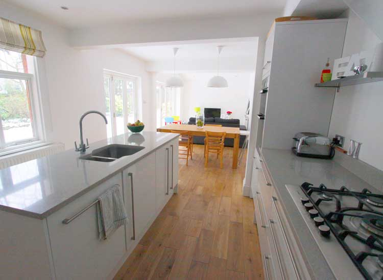 Kitchen extension and two bathroom refurbishments sutton for Kitchen ideas extension
